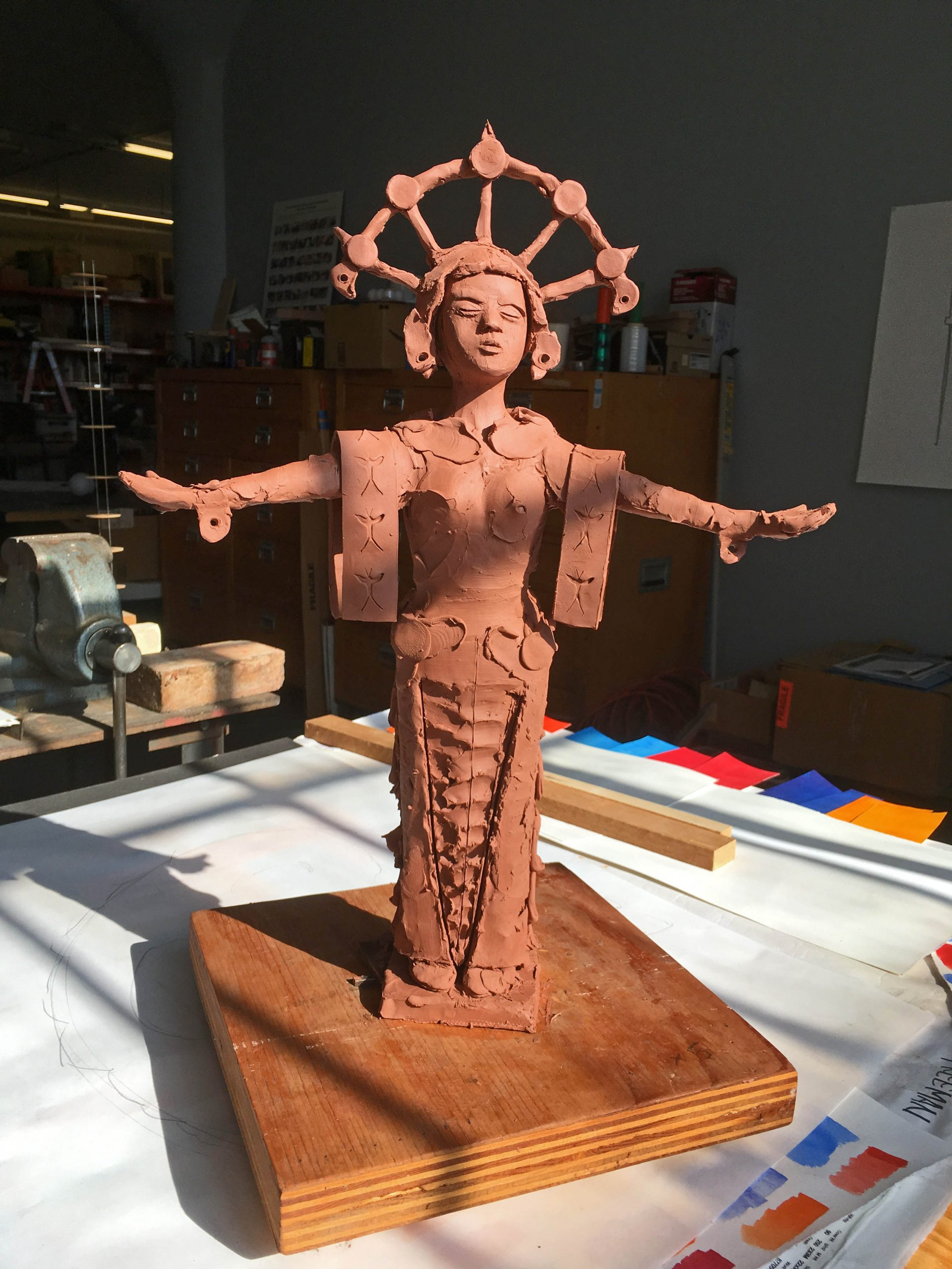 Clay model of sculpture